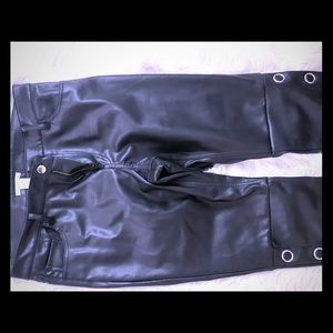 H&M Faux Leather Pants Sz 12